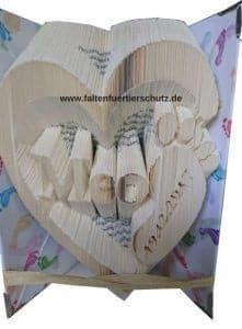 Faltbuch Tierschutz Herz Baby