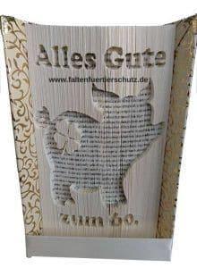 Faltbuch Tierschutz Alles Gute mit Glücksschwein