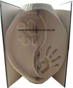 Faltbuch Tierschutz Ying und Yang Pfote/Hand