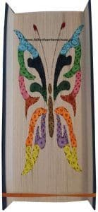 Tierschutz Faltbuch Schmetterling bunt 3D
