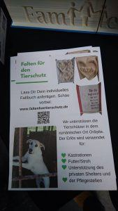 Faltbuch Tierschutz Flyer